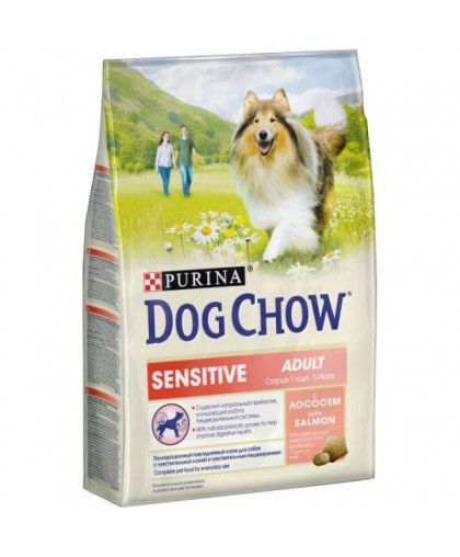 Dog Chow Sensetive лосось with Salmon